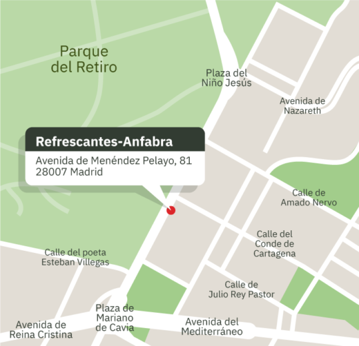 Mapa de ubicación de Asociación de Bebidas Refrescantes Anfabra