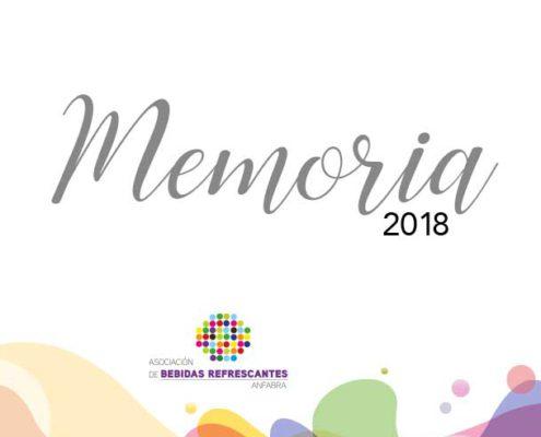 Memoria 2018 de la Asociación de bebidas refrescantes